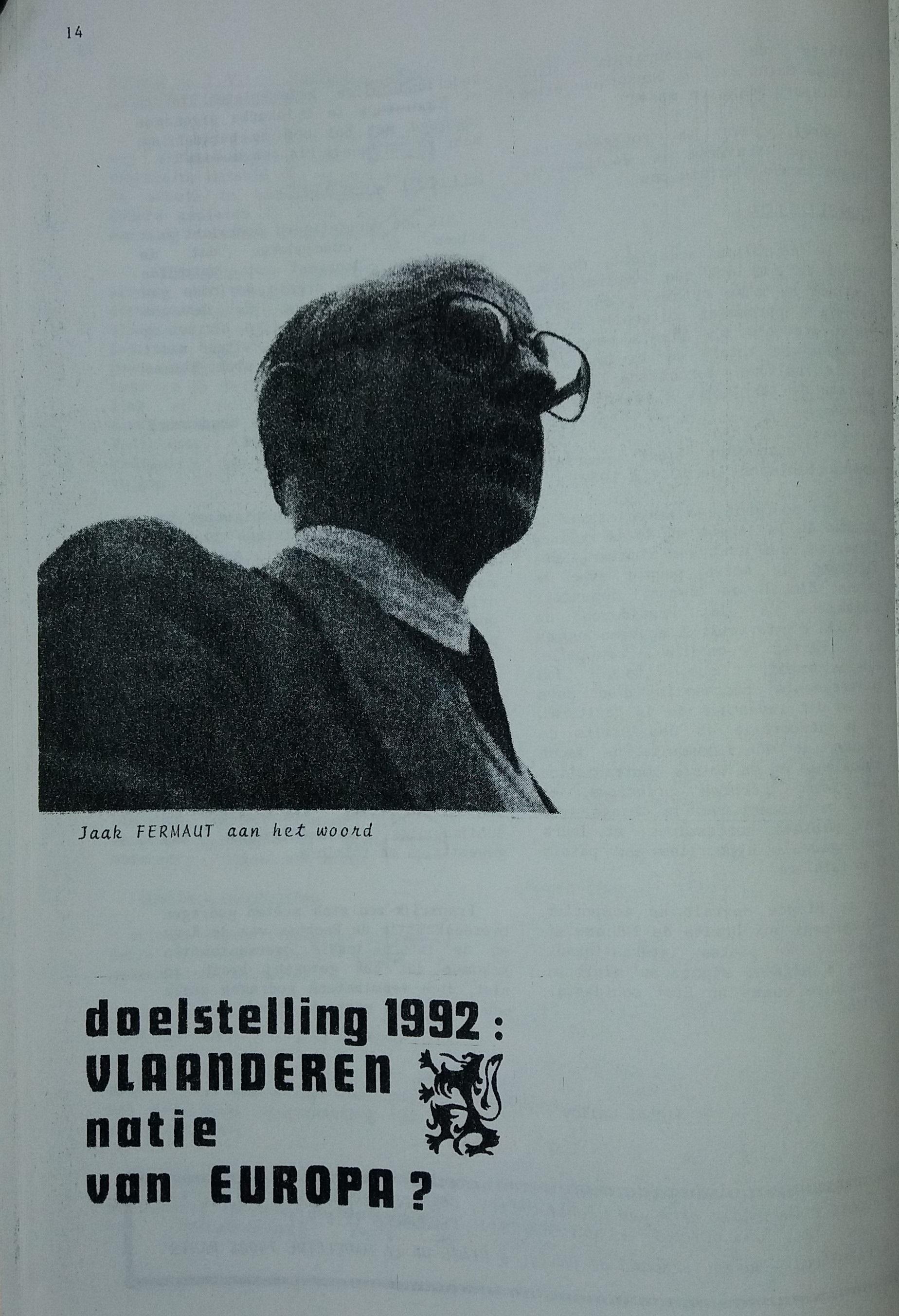 Le PFF Un Parti Nationaliste Flamand En France Actcong3 1992 14